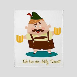 Ich bin ein Jelly Donut Throw Blanket
