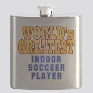World's Greatest Indoor Soccer Player Flask