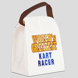 World's Greatest  Kart Racer Canvas Lunch Bag