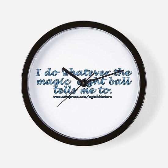 Magic 8 ball joke Wall Clock