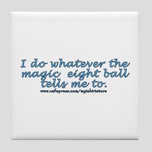 Magic 8 ball joke Tile Coaster