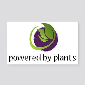 powered By Plants Rectangle Car Magnet