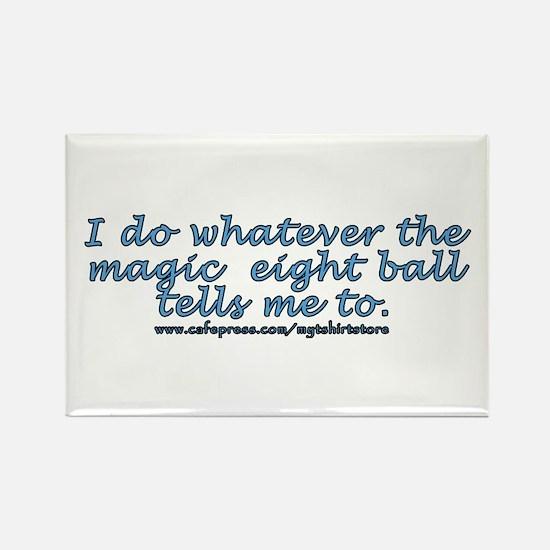 Magic 8 ball joke Rectangle Magnet