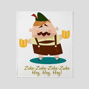 Zicke-Zacke Oktoberfest Leo Throw Blanket