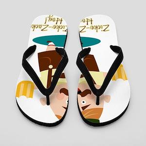 Zicke-Zacke Oktoberfest Leo Flip Flops