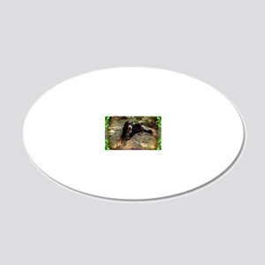 Berner atop Stream Bed, Leaf 20x12 Oval Wall Decal