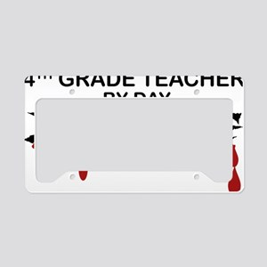 4th Grade Zombie License Plate Holder