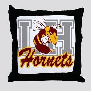 Fighting Hornet 10x10 Throw Pillow