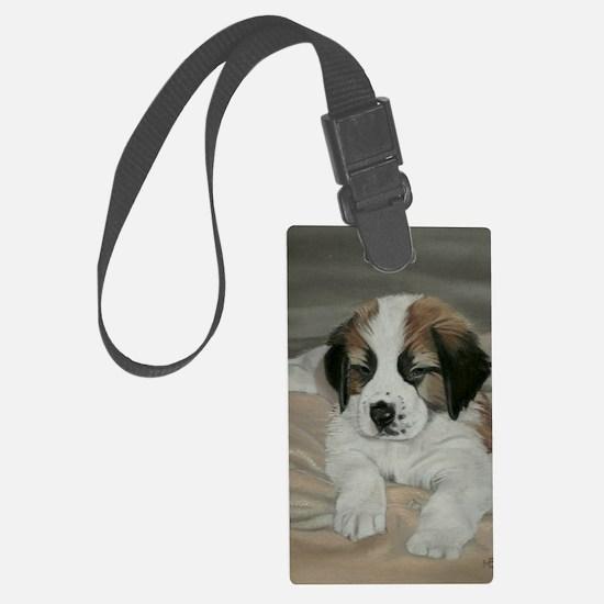 saint bernard puppy Luggage Tag