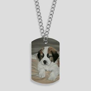saint bernard puppy Dog Tags