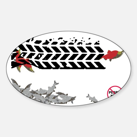 Tire Tracks - (Anti-Pebble Mine Cam Sticker (Oval)