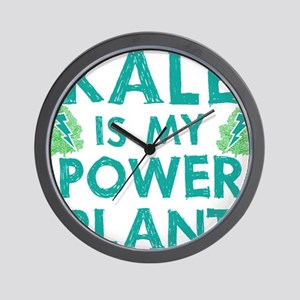 Kale is my power plant Wall Clock