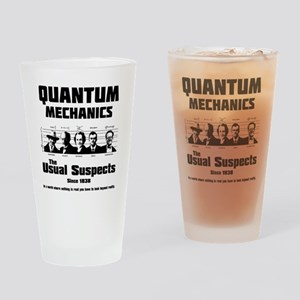 Quantum Mechanics-The Usual Suspect Drinking Glass