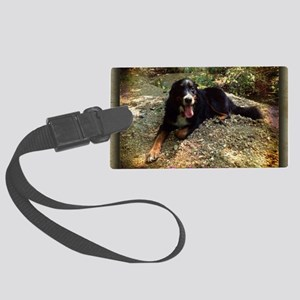 Berner atop Stream Bed, rustic f Large Luggage Tag