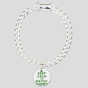 Keep Calm Charm Bracelet, One Charm
