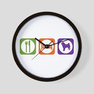 Eat Sleep Sheepdog Wall Clock
