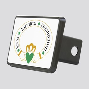 claddagh for light white c Rectangular Hitch Cover