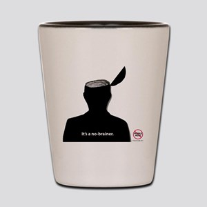No-Brainer - (Anti-Pebble Mine Campaign Shot Glass