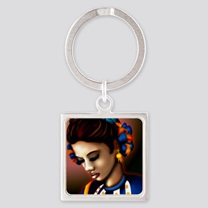 Mexican Jalisco Dancer Square Keychain