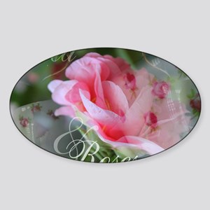 Tea  Roses Sticker (Oval)