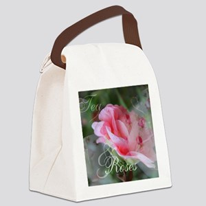 Tea  Roses Canvas Lunch Bag