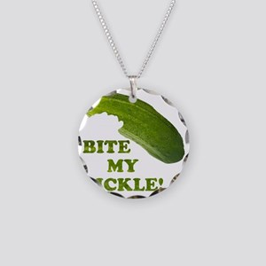 Bite My Pickle! Necklace Circle Charm