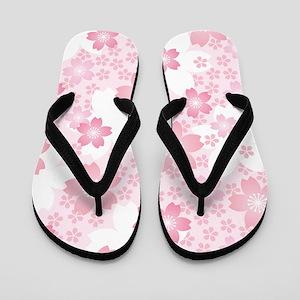 Pink Flowers Flip Flops