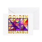 Golden Rectangle Greeting Cards (Pk of 10)