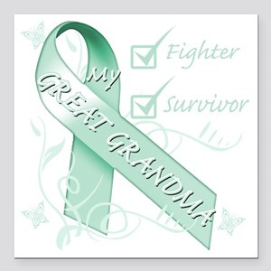"""Great Grandma is a Fight Square Car Magnet 3"""" x 3"""""""