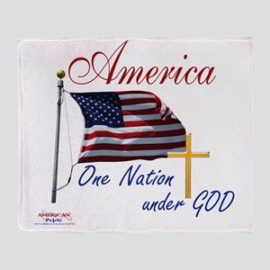America One Nation Under God Throw Blanket