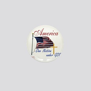 America One Nation Under God Mini Button