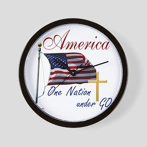 America One Nation Under God Wall Clock