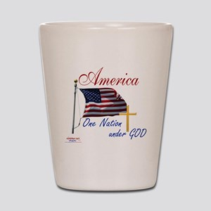 America One Nation Under God Shot Glass