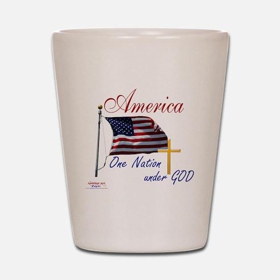 America One Nation Under God Shot Glass