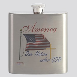 America One Nation Under God Flask