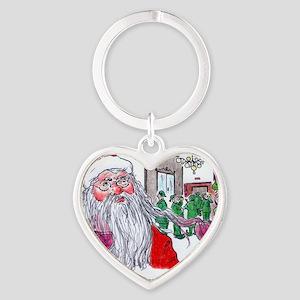 Santas buying! Heart Keychain