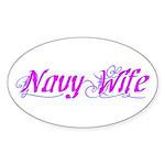 Navy Wife ver2 Oval Sticker
