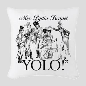 Lydia Bennet YOLO Woven Throw Pillow