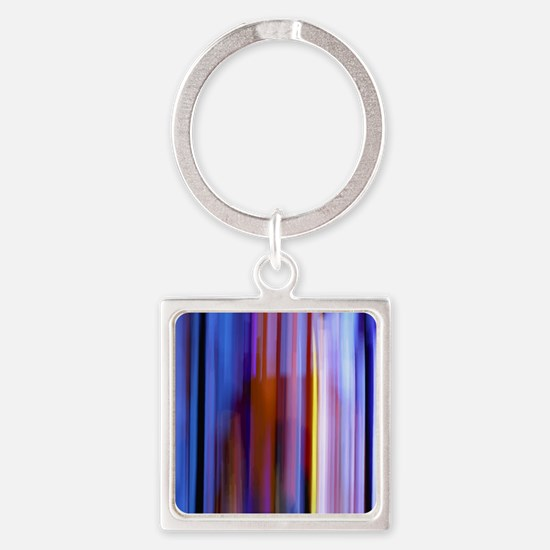 Surreal Stripes Square Keychain