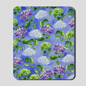 Hydrangeas Floral Blue Mousepad