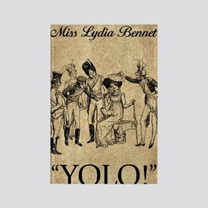 Lydia Bennet YOLO Rectangle Magnet