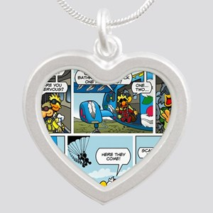 2L0102 - Chucks birthday jum Silver Heart Necklace