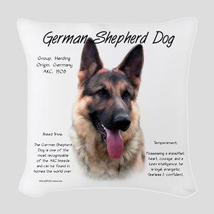 GSD Woven Throw Pillow