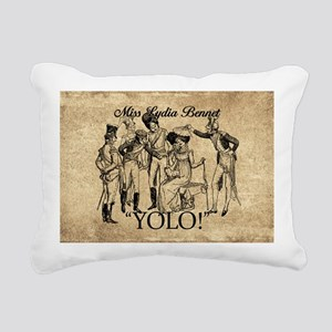 Lydia Bennet YOLO Rectangular Canvas Pillow