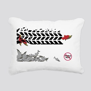 Tire Tracks magnet- (Ant Rectangular Canvas Pillow