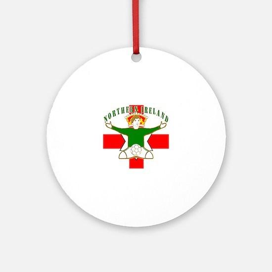 Northern Ireland Football Celebrati Round Ornament
