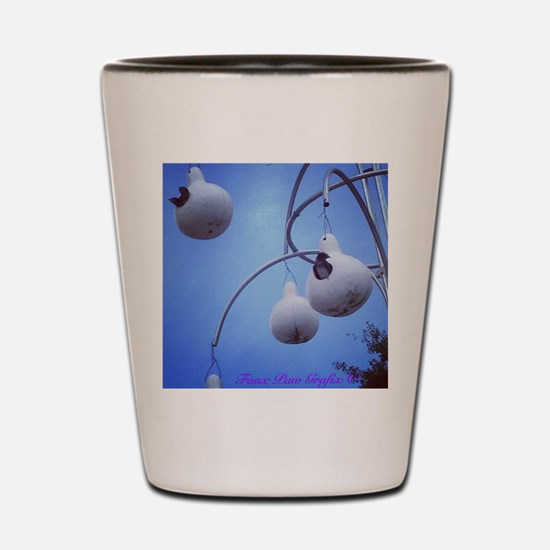 Purple Martin Village Shot Glass