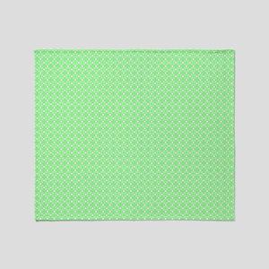 Green Dots Pattern Throw Blanket