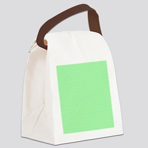 Green Dots Pattern Canvas Lunch Bag