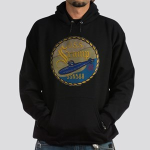 uss scamp patch transparent Hoodie (dark)